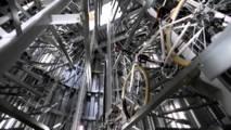 Japonské parkovisko na bicykle